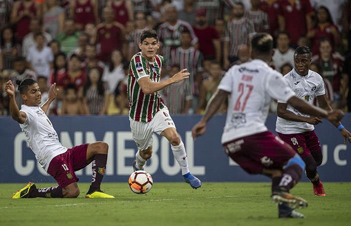 Fluminense derrotó al Deportivo Cuenca (Foto: AFP)
