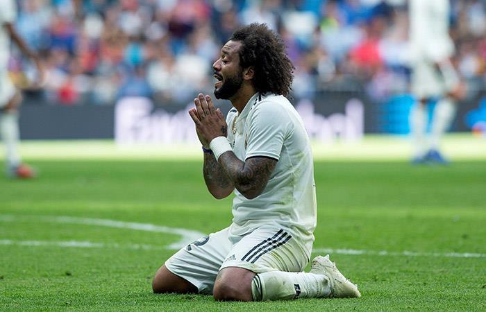 Marcelo se lamenta tras caer ante el Levante. Foto: EFE
