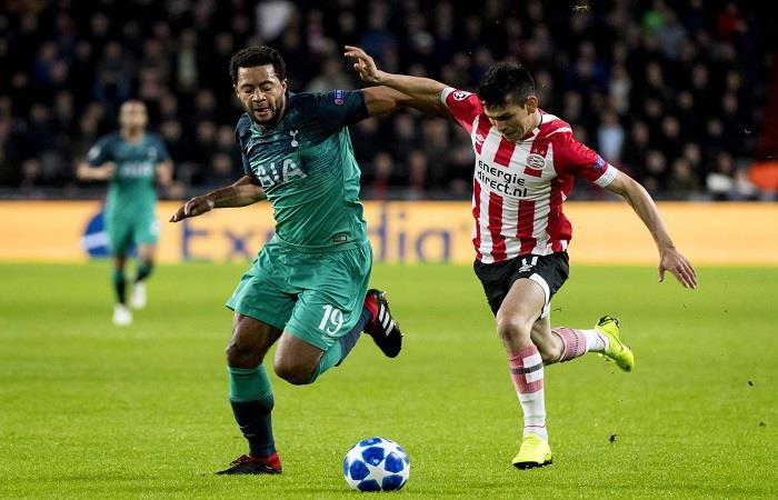 PSV logró el empate sobre el final ante el Tottenham. Foto: EFE