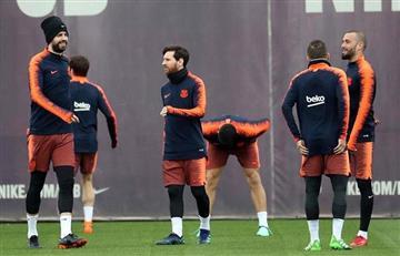 Messi volvió a entrenar