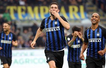 Inter goleó al Genoa y acortó distancia con la Juventus