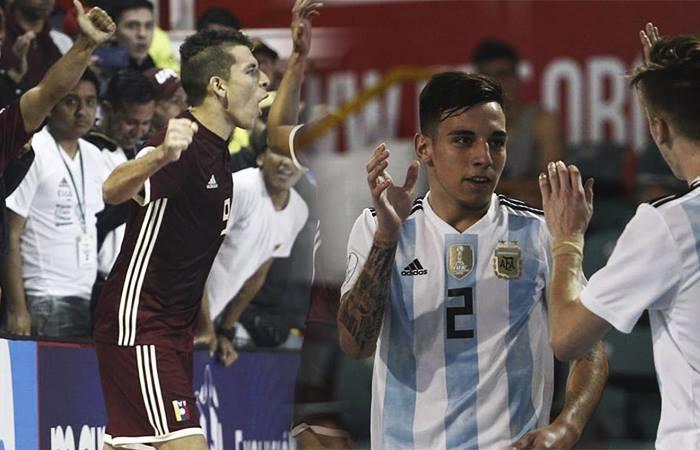 Argentina vs Venezuela por el Sudamericano Sub 20 de Futsal