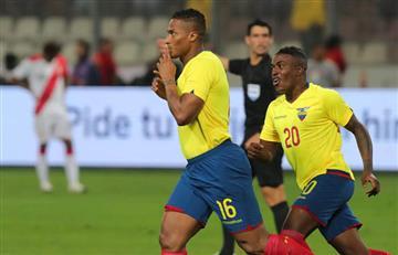 Reacción ecuatoriana del partido con Perú