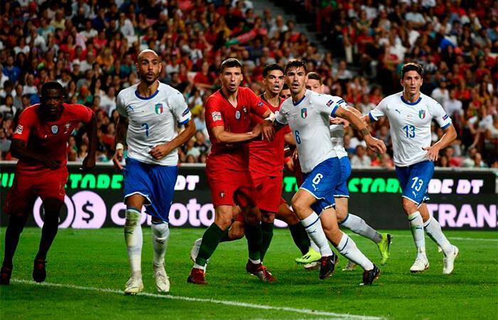 Italia recibe a Portugal en San Siro. Foto: AFP
