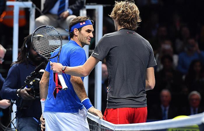 Federer no pudo ante Zverev. Foto: AFP