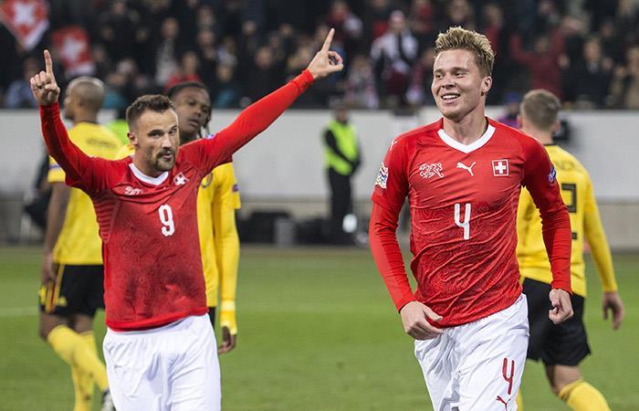 Suiza goleó a Bélgica (Foto: AFP)