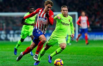 Atlético de Madrid empató contra el Barcelona