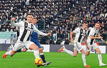 Juventus ganó con gol de Cristiano Ronaldo