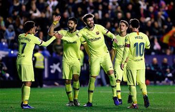 Barcelona lidera LaLiga con 'triplete' de Messi