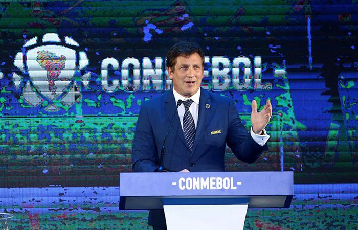 Alejandro Domínguez, es el presidente de la Conmebol (Foto: @EFE)