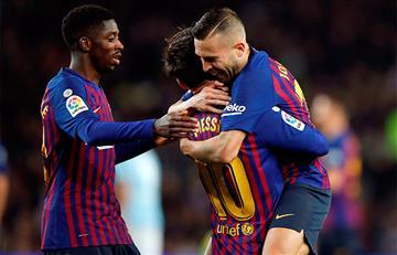 Barcelona cerró el año con victoria y puntero