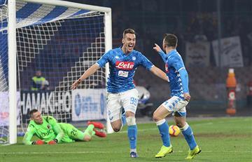 Napoli ganó y escolta a la Juventus