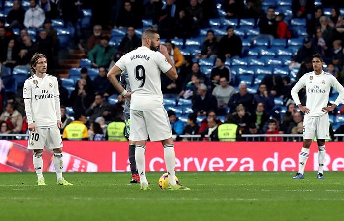 Real Madrid cayó en casa por 2-0 ante Real Sociedad. Foto: EFE