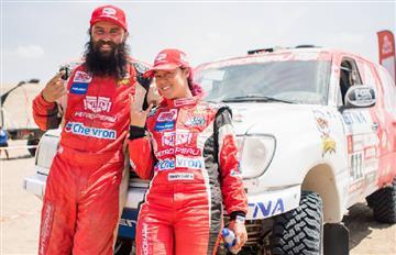 Fernanda Kanno es la primera peruana en terminar el Dakar