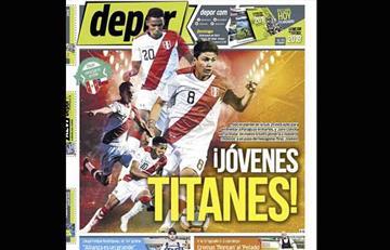 Portadas de periódicos deportivos peruanos del domingo 20 de enero