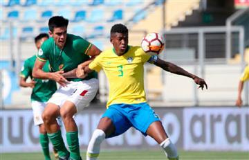 Brasil logró el triunfo ante Bolivia por el Sudamericano Sub 20