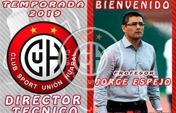 Unión Huaral presenta a Jorge Espejo como su técnico para la temporada 2019