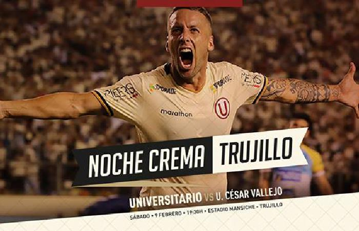 Universitario La Noche Crema en Trujillo será transmitida EN VIVO por este canal
