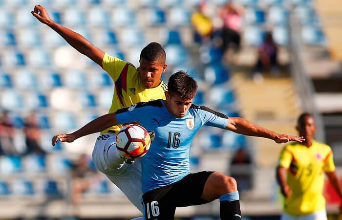 Uruguay y Colombia empataron en la última fecha del hexagonal final (Foto: EFE)