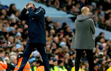 El italiano Mauricio Sarri rechazó el saludo de Pep Guardiola