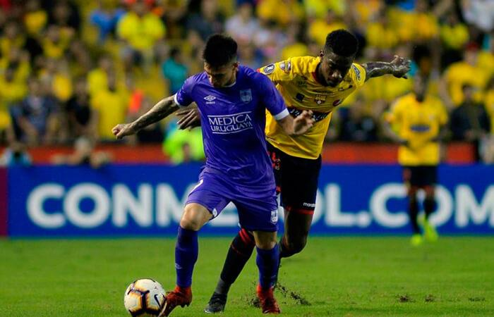 Barcelona quedó eliminado ante Defensor SP por la Libertadores. Foto: EFE