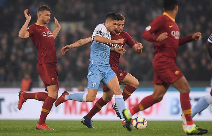 Lazio apabulló a la Roma. Foto: Twitter