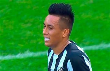 Corinthians empató frente al Santos de Christian Cueva