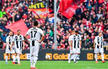 Sin Cristiano, Juventus cayó por primera vez en la Serie A