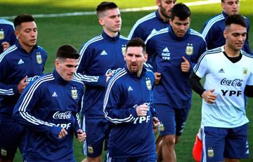 Messi realizó su primer entrenamiento tras regreso a la 'Albiceleste'