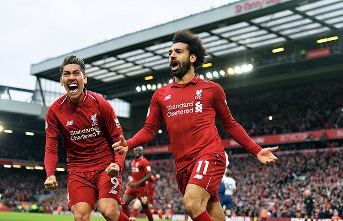 Liverpool celebró en los minutos finales. Foto: EFE