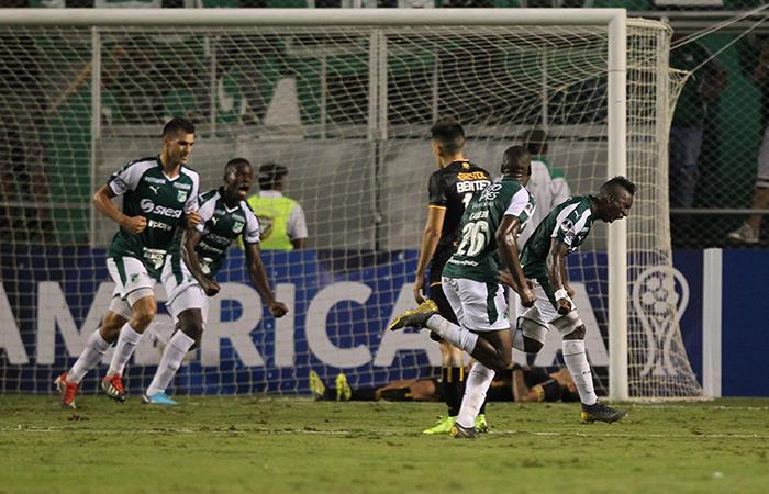 Kevin Velasco marcó el único tanto del partido. Foto: EFE