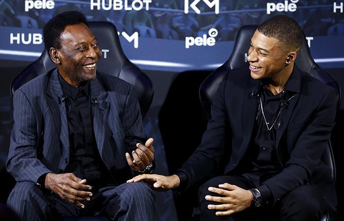 Pelé y Mbappé se reunieron en Francia. Foto: EFE