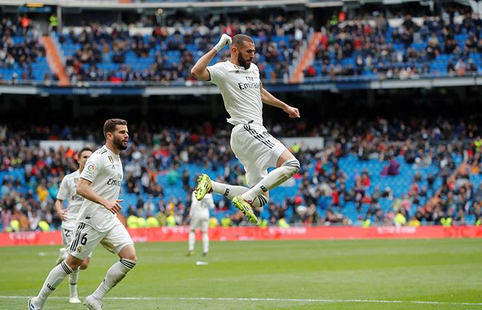 Karim Benzema anotó los dos goles del Real Madrid (Foto: EFE)