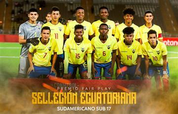 Ecuador se lleva premio Fair Play del Sudamericano