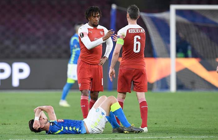 Arsenal venció a Napoli por Europa League (Foto: EFE)