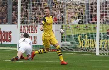 Borussia Dortmund goleó al Friburgo y no le pierde pisada al Bayern Múnich