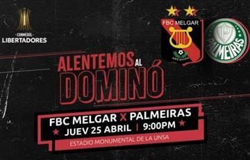 Melgar vs Palmeiras: Precios de entradas