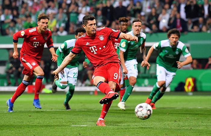 Werder Bremen 2-3 Bayern Múnich por la Copa de Alemania (Foto: @EFE)