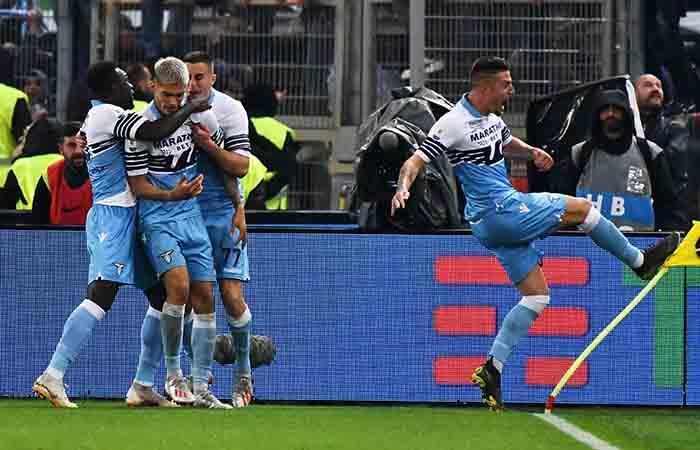 Lazio campeón de la Copa Italia. Foto: EFE