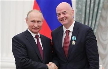 Putin condecora a Gianni Infantino por Mundial Rusia 2018