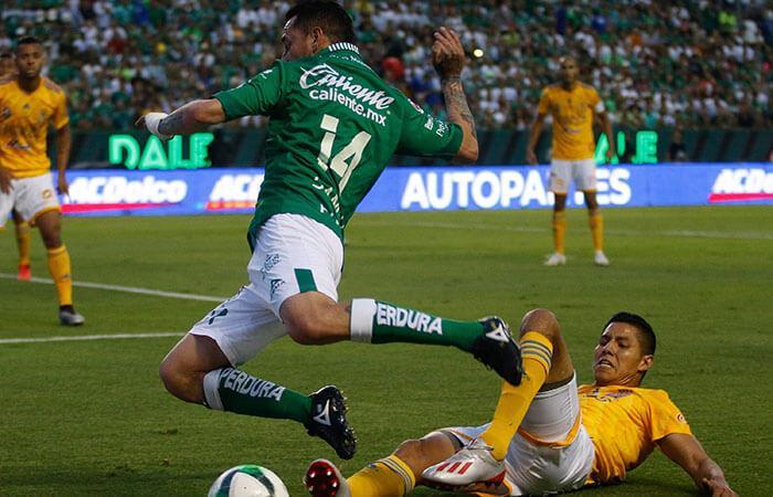 León empató en la vuelta frente a Tigres. Foto: EFE