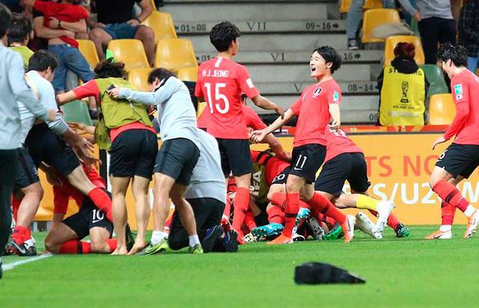 Mundial Sub 20: Corea Del Sur 3-3 Senegal. (Imagen: EFE)