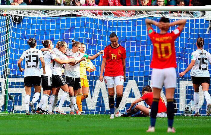 Mundial Femenino: Alemania 1-0 España. (Foto: EFE)
