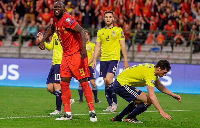 Bélgica no da tregua y goleó a Escocia con un inspirado Romelu Lukaku