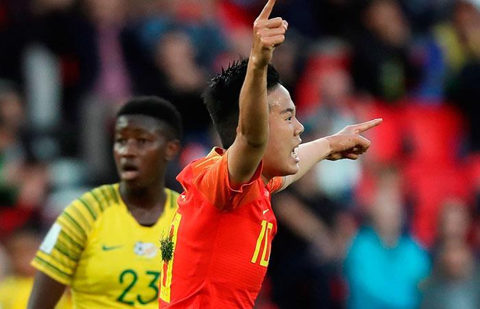 Sudáfrica 1-0 Chine. Foto: EFE