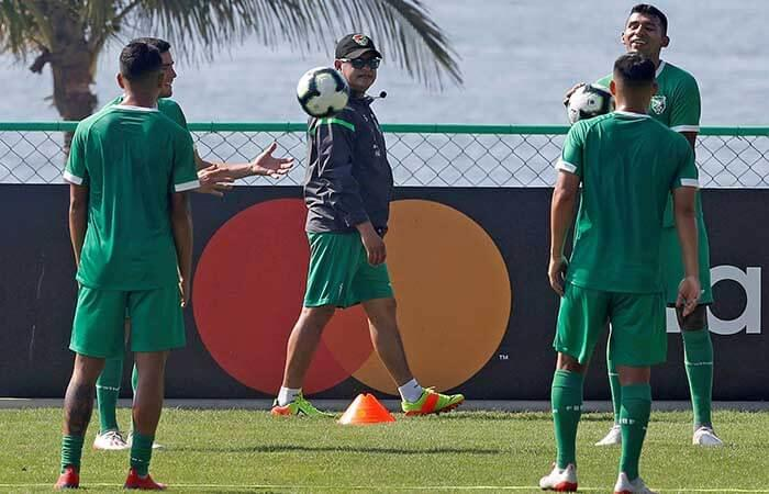 Bolivia se entrena en Río de Janeiro. Foto: EFE
