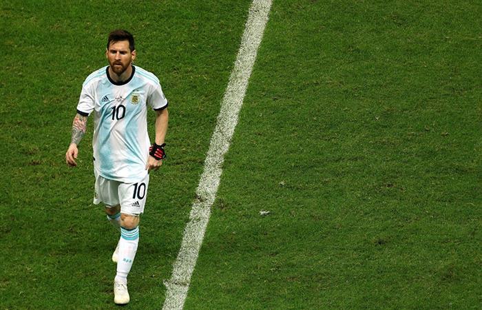 Lionel Messi jugó los 90' en la derrota de Argentina sobre Colombia (Foto: Twitter)