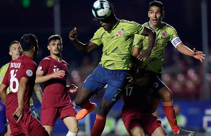 Así fue el único gol del partido entre Colombia vs Qatar por Copa América
