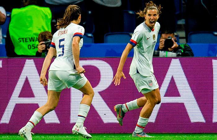 Estados Unidos venció a Suecia por el Mundial Femenino. Foto: EFE