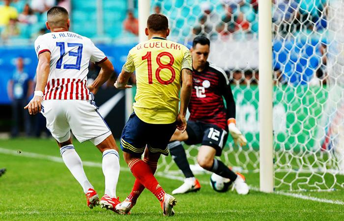 Paraguay vs Colombia. Foto: Twitter